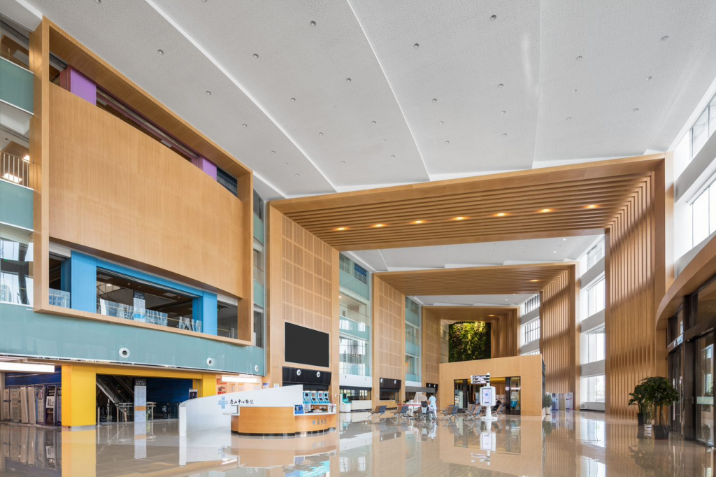 Intergrated acoustics in the main lobby design