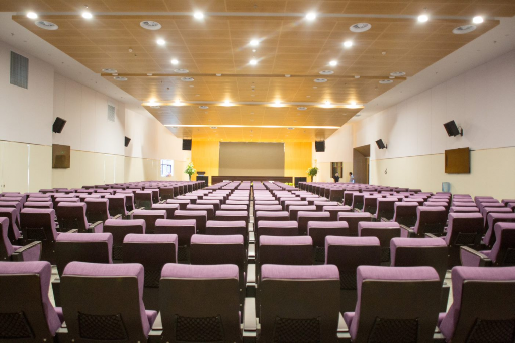 Conference hall's with acoustic treatments